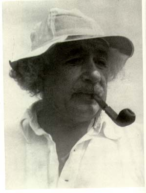 Einstein Smoking a Pipe